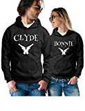 Clyde & Bonnie Matching Couple Hoodies - Pullover Sweatshirts - His and Hers Outfits
