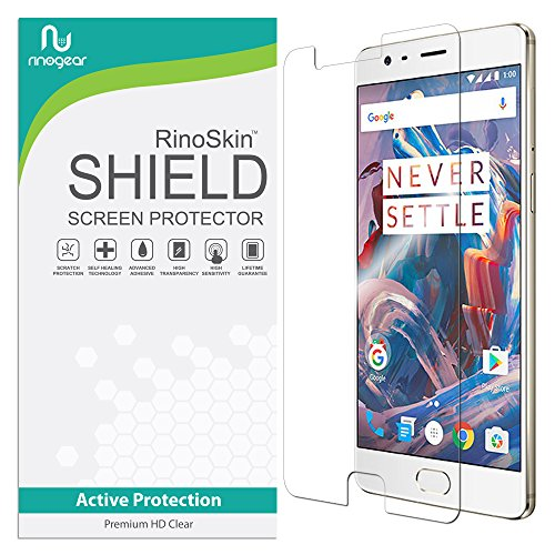 OnePlus 3T Screen Protector RinoGear Case Friendly Screen Protector for OnePlus 3T Accessory Full Coverage Clear Film