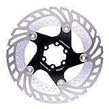 Acero Inoxidable Flotante Bicicletas Rotor del Freno De Disco De Bicicletas De Bloqueo De Acero De Aleación De Aluminio Negro 203mm Bicicleta De Montaña MTB
