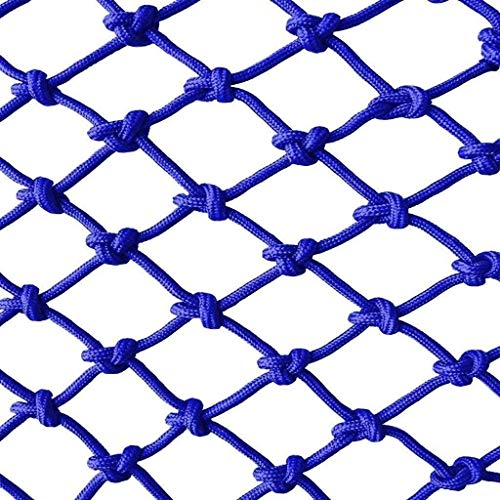 Child Safety Protective Rope Net Blue Stair Balcony Railing Trampoline Anti-fall Anti-cat Net Outdoor Garden Fence Plant Climbing Wall Ceiling Decor Net (Size : 1 * 4m(3.3ft*13ft))