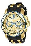 Invicta 17887 Pro Diver - Scuba Reloj para Hombre acero inoxidable Cuarzo Esfera oro