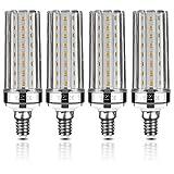 Yiizon LED Corn Bulbs, E12, 20W, Equivalent to 150 W Incandescent Light Bulbs, 3000 K Warm White, 2000LM, E12 Small Edison Screw,Non-dimmable Candelabra LED Light Bulbs 4 Pack