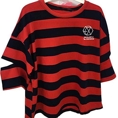 Exo Camiseta Fans KPOP Manga Corta Tshirt Kai Chen Sehun Suho Baekhyun Chanyeol...
