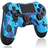 GOLDJU Wireless Controller for PS-4, Gamepad Controller Compatible with PS-4/PS-4 Slim/PS-4 Pro (Blue Camo)