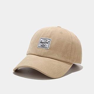 Soft Top Baseball Cap Hip Hop Casual Hat Outdoor Sports Sunscreen Hat Women Men's Labeling Letters Adjustable Trucker Sunscreen Fishing Hat (Color : Khaki)