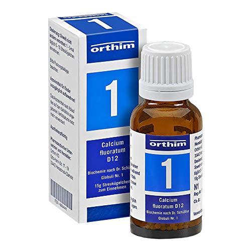 BIOCHEMIE Globuli 1 Calcium fluoratum D 12 15 g