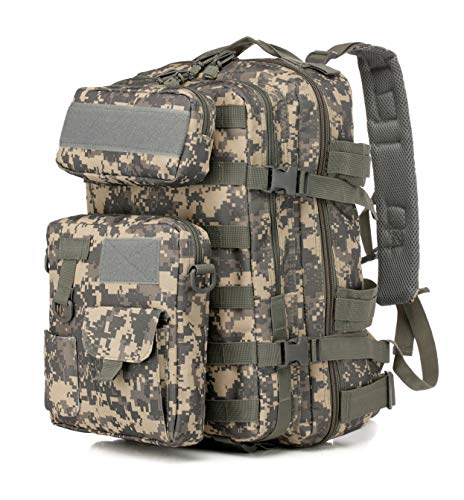 LWSS Backpack Tactical Backpack Hiking Backpack Trekking Backpack with a Large Capacity 47X33X24/ACU Camouflage