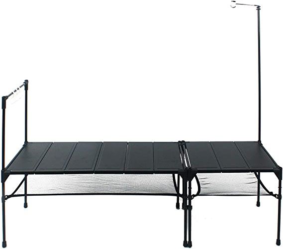 Table De Camping Pliante,LéGer Force SuppléMentaire Portable, Barbecue ExtéRieur De Pique-Nique De FêTe De FêTe De Jardinage, Table en Aluminium éPissable