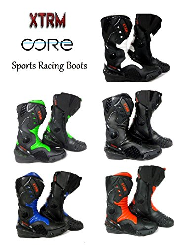 XTRM CORE MOTORBIKE CE:APPROVED SPORTS ARMOUR BOOTS ALL GREEN SIZE UK 5