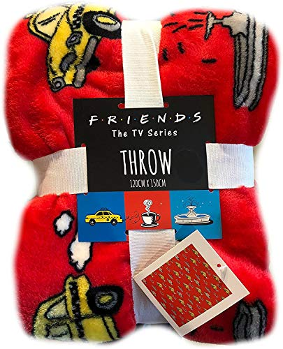 """Primark Tagesdecke/Überwurf """"Friends"""", lizenziertes Produkt, 120 x 150 cm"""