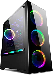 GOLDEN FIELD Z21 PC Case Gaming Computer Case EATX/ATX/MATX/ITX Mid Tower Case Tempered Glass Openable Side Panel