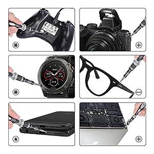 122 in 1 Computer Repair Kit, Laptop Screwdriver Kit, Magnetic Precision Screwdriver Set, Small Impact Screw Driver Set…