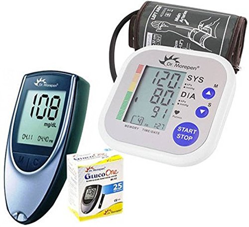 Dr. Morepen BP02 Blood Pressure Monitor and BG03 Glucose Check Monitor Combo...