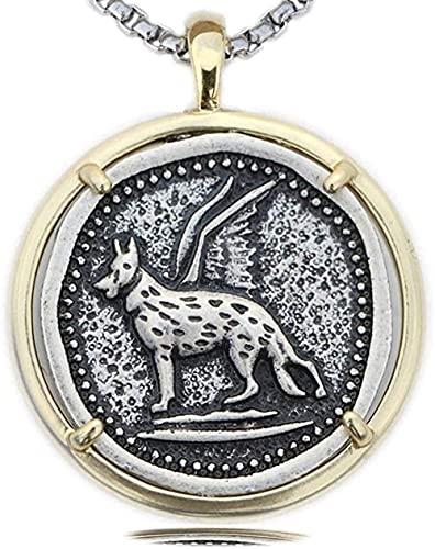 WYDSFWL Collar Marcas de reconocimiento Collar de Pastor alemán para Hombres Psicología Espiritualidad Perros Mascotas Policía Perros Colgante Collar de joyería Conmemorativa