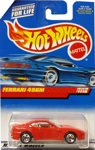 Hot Wheels Mattel 1999 1:64 Scale Red Ferrari 456M Die Cast Car Collector #1118