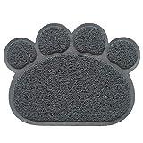alfombra gatos arenero forma de huella