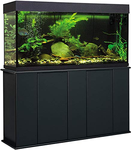 Aquatic Fundamentals 75-90 Gallon Aquarium Stand with Storage, Double Door Front Access, Black 36751-01-AMA