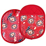 Pot Holders set of 2 Transparent Clear Silicone Shell Printing Cotton Lining Heat Resistant to 500 F Kitchen Oven Gloves Pot Holder Cooking Baking BBQ Machine Washable (Bird Nest Potholders)