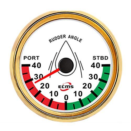 """KEKEYANG Instrumententafel Universal-Analog-Steuer-Winkel-Meßanzeige Meter Marine Schiffsboot Yacht 0-190ohm Signal mit Rudder Sensor 85mm (3-3/8"""") for Motoren, Schiffe, modifizierten Autos Verschl"""