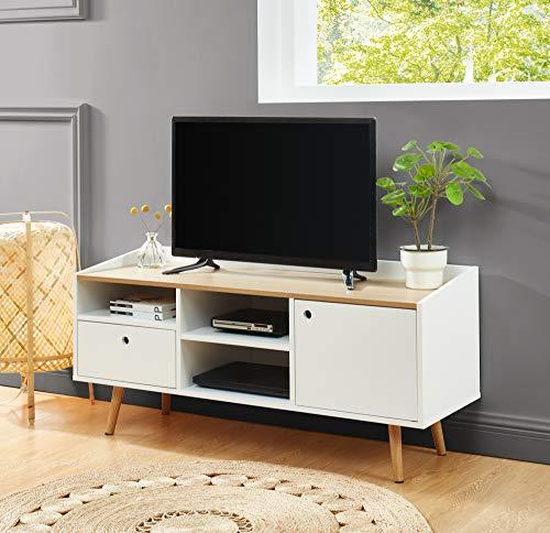 BAÏTA Caldera TV-Möbel, Mattweiß lackiert, L120cm