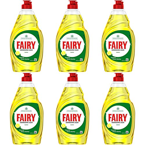 FAIRY Limón Detergente líquido 433ml Funda de 6