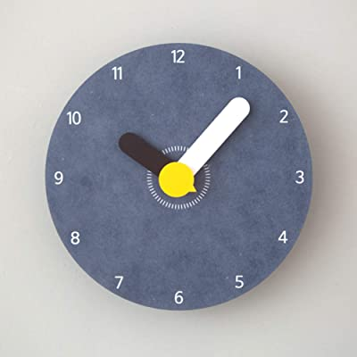 Childrens Cartoon Creative Wall Clock,Modern Minimalist Silent Non-Ticking Quartz Clock Colourful dial