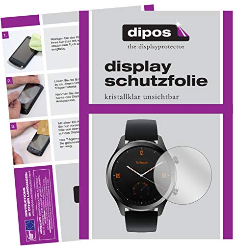 dipos I 6X Schutzfolie klar kompatibel mit TicWatch C2 Smartwatch Folie Bildschirmschutzfolie
