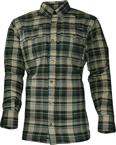 King Kerosin SPEEDSHIRT - Kevlar - Cream-Green Check XL