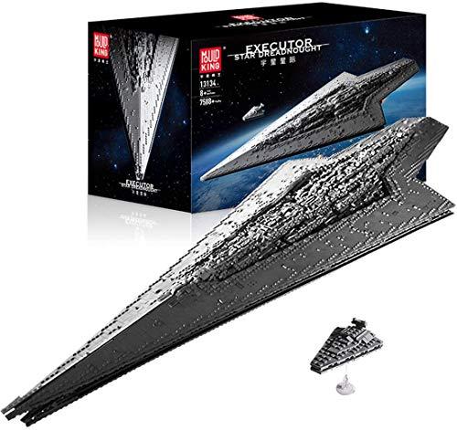 Mould King 13134 7588pcs Weltraumzerstörer, 1,34 Meter Langer St Star Destroyer Schlachtschiff Modellbausatz, Klemmblock Bauvorrichtung, Kompatibel Mit Lego Technologie