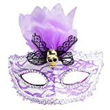 Fine 7 Color Lights LED Light up Mask, USB Rechargeable Glowing Luminous Mask Dancing for Christmas Party Festival Dancing Rave Masquerade Costumes (A)