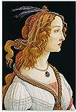 TANXM Cuadro En Lienzo 60 * 90cm Sin Marco Retrato de una Mujer Joven Sandro Botticelli Carteles Decorativos para Sala de Estar Pintura para Dormitorio