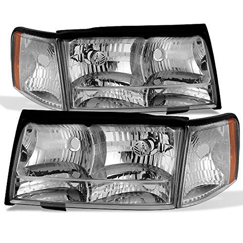 For 1997 1998 1999 Cadillac Deville Left + Right Side Headlights & Parking Corner Lights Assembly Set