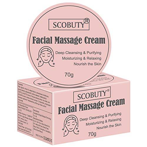 Face Scrub, Massagecream, Gesichtsmassage Creme, Gesichtspeeling, Porentiefe Gesichtsreinigung, Bambuskohle Detox Creme Tiefenreinigung Hautpflege Gesichtsmassage Creme, 70g