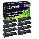 Paquete de 8 cartuchos de tóner (negro), compatible con impresoras Lexmark B222H00 (alta capacidad), compatible con impresoras Lexmark B2236DW, MB2236ADW, MB2236ADWE