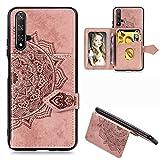 Étui de téléphone Portable Idéal for Huawei Honor 20 Mandala Tissu PU gaufrée magnétique + TPU...