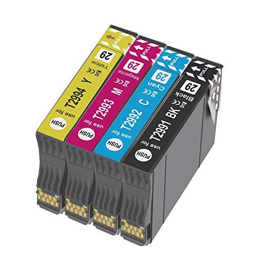 Teland 29XL - Cartuchos de tinta para Epson Expression Home XP-255 XP-235 XP-435 XP-332 XP-345 XP-335 XP-245 XP-342 XP-247 XP-432 XP-455 XP-452 (4 unidades)