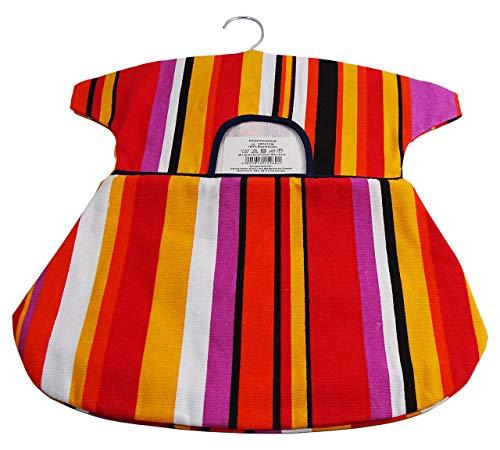 Klammerbeutel mit Bügel Baumwolle 38 x 43cm Streifen
