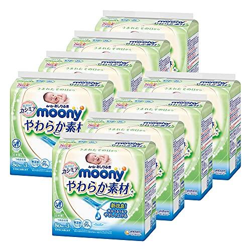 ムーニー おしりふき やわらか素材 純水99% 詰替 1920枚(80枚×24)【ケース品】