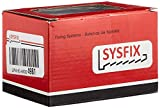 Sysfix 2310501 - Fermaporta da avvitare n. 5 in Confezione da 10 Pezzi con tasselli e Viti di Colore Bianco