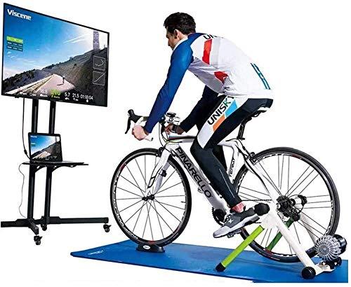 JSBVM Entrenador de Bicicleta de Interior Inteligente Compatible con Bluetooth y Ant + Entrenador de Ejercicios de Resistencia a fluidos Soporte de Bicicleta estacionario para Zwift