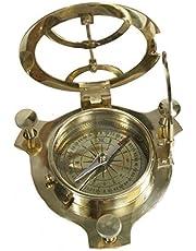 Safa Nautical MARITIME - Brújula decorativa de latón envejecido