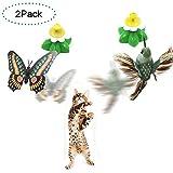 Funny Spinner interactivo gato juguete eléctrico giratorio mariposa...