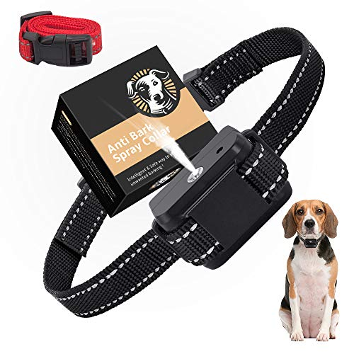 collare antiabbaio cani con spray, SOYAO collari anti abbaio di cane automatici per addestramento, dispositivi anti-abbaio per cani di taglia grande medio piccola (verde)