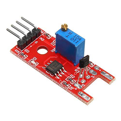 Condensadores KY-024 de 4 Pines Lineal interruptores magnéticos Velocidad de conteo del módulo del Sensor Hall por 5pcs