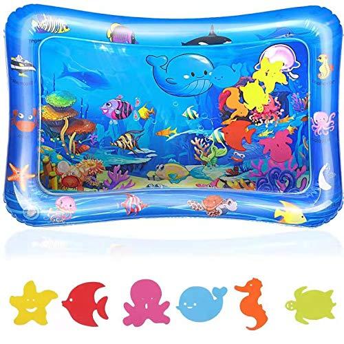 Wassermatte Wasserspielmatte Baby 3 Monaten Babyspielzeug ab 6 Monaten Spielzeug (Delfin) (Hai)