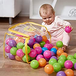 Colorful Plastic Soft Air-Filled play balls are perfect for use in ball pits. Comes in a PVC bag. Whether little ones are diving into a ball pit full of play balls or using them to play catch or tennis, this versatile set is great for active play. Du...