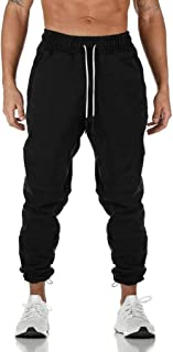 Dainzuy Men's Jogging Pants Cotton Jogger Sweatpants Fitness Running Gym Athletic Pants Pockets Elastic Sports Pants