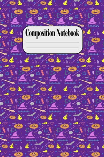 Composition Notebook: A Very Special halloween Notebook to cheer you on and help you achieve greatness - Ruled Journal Notebook, Use for School, Work, ... Gift - Little Pumpkins on Halloween Night