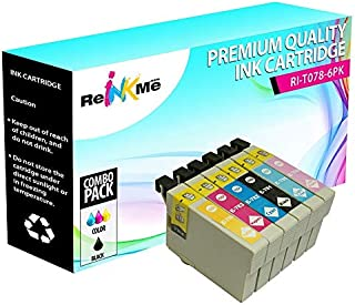 ReInkMe 6 Pack Remanufactured 78 Ink Cartridges for Epson R280 RX580 RX680