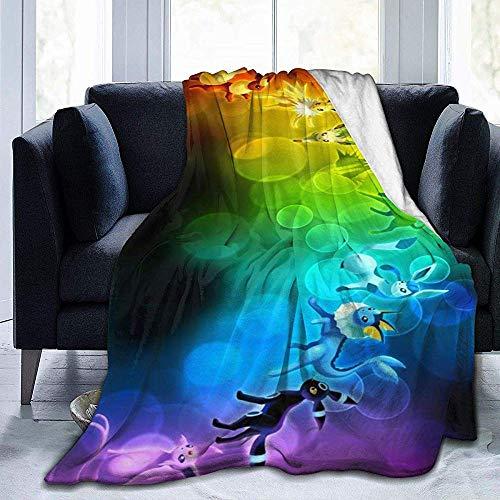 venty Po-Kemon Ee-V-Ee Pi-Ka-Chu Ultraweiche Decke Komfort Superweiche Sofadecke, damit Ihr kalter Winter die Wärme des Ofens spüren kann